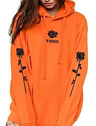 cheap -Women's Pullover Hoodie Sweatshirt Solid Colored Casual Hoodies Sweatshirts  Black Army Green Orange