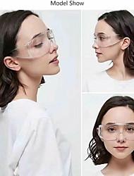cheap -Protective Eyewear, Clear Frame, Clear Anti-Fog Lens