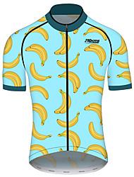 Недорогие -21Grams Муж. С короткими рукавами Велокофты Спандекс Полиэстер Черный / синий Фрукты Банан Велоспорт Джерси Верхняя часть Горные велосипеды Шоссейные велосипеды / Эластичная / Быстровысыхающий