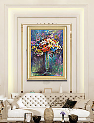 cheap -Hd Printing  Abstract Oil Painting European Vintage Flowers Bedroom Hotel Porch Has Framed Canvas Art Wall Painting