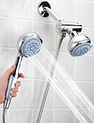 cheap -Shower Faucet Set - Handshower Included Contemporary Electroplated Wall Installation Ceramic Valve Bath Shower Mixer Taps
