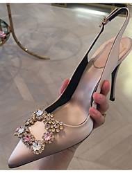 cheap -Women's Heels Stiletto Heel Pointed Toe PU Spring & Summer Black / Red / Beige