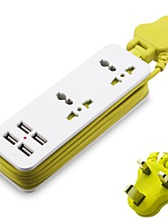 cheap -Smart Wall Charger With 4 USB Travel Power Extension Socket Surge Protector 5V 2A Hub Socket