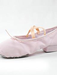 cheap -Women's Ballet Shoes Canvas Heel Thick Heel Dance Shoes Black / Purple / Red