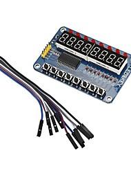 Недорогие -8-битный цифровой светодиодный тубус модуль дисплея ключа tm1638 для AVR Arduino