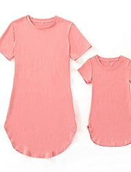 cheap -Mommy and Me Striped Dress Blushing Pink