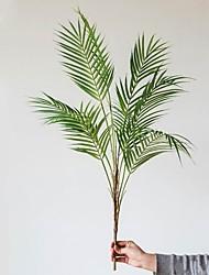 Недорогие -1 ветка яркие искусственные растения домашний декор творческий свадебный дисплей имитация листьев декор