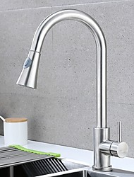 cheap -Kitchen faucet - Single Handle One Hole Electroplated Pull-out / Pull-down Centerset Contemporary Kitchen Taps