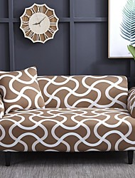 cheap -Stripes Print Dustproof All-powerful Slipcovers Stretch Sofa Cover Super Soft Fabric Couch Cover with One Free Pillow Case
