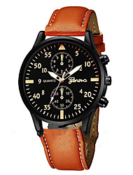 cheap -Men's Dress Watch Quartz Stylish Leather Black / Blue / Brown Day Date Analog Casual Fashion - Black Blue Brown One Year Battery Life