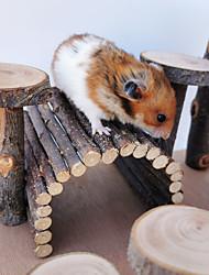Недорогие -Лестница для домашних животных Игрушка для домашних животных Молярные игрушки Деревянные аксессуары для скалолазания для маленьких хомяков Белки Шиншиллы Кролики