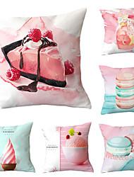cheap -Set of 6 Throw Pillow Simple Classic 45*45 cm Cushion Vintage Circle Cover Sofa Home Decor Throw Pillow Case