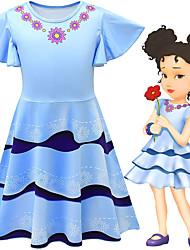 cheap -Fancy Nancy Dress Cosplay Costume Girls' Movie Cosplay Cosplay Costume Party Vacation Dress Blue Dress Polyster