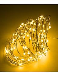 Недорогие -Мини светодиодный свет шнура 3 м серебряный провод фея огни для гирлянды домой рождественские украшения свадьбы питание от cr2032 батареи