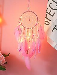 cheap -Pink Night Light Dream Catcher INS Girl Heart Sky Lighting Decoration Birthday Gift