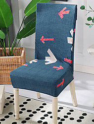 cheap -High Quality Printed Arrow Spandex Chair Covers For Dining Room Chair Cover For Party Chair Cover For Wedding Living Room Chair Covers