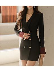 cheap -Women's A Line Sheath Dress - Solid Color Sequins Tassel Fringe Black Green S M L XL