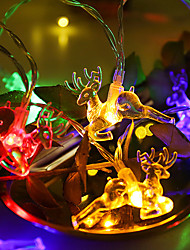 cheap -LED String Lights Christmas Day Gift Elk Battery Light Room Party Decoration Lights Fawn Shaped Lights