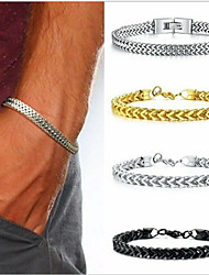 cheap -Chain Bracelet Thick Chain Love Simple Trendy Alloy Bracelet Jewelry Gold / Silver / Black For Sport Gift Formal Birthday Festival
