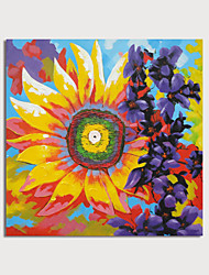 cheap -Hand Painted Canvas Oilpainting Abstract Sunflower by Knife Home Decoration with Frame Painting Ready to Hang