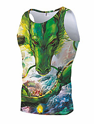 cheap -Inspired by Galaxy Corset Cosplay Costume Polyster Print Vest For Men's