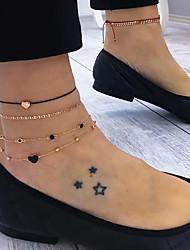 Недорогие -Цепочка на ногу Элегантный стиль модный Этнический Жен. Украшения для тела Назначение Свадебные прием Свидание Сплав Свадьба Друзья Золотой 5 ед.