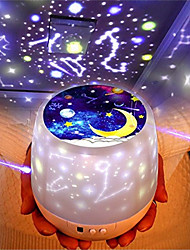 cheap -Color Magic Diamond Projection Lamp Tiktok Star Light Fantasy Universe Starry Sky Light Intelligent Rotating LED Night Light Creative USB Lamp