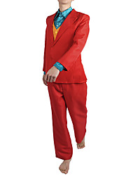 cheap -Joker Cosplay Costume Outfits Men's Movie Cosplay Suits RedYellow Vest Shirt Top Halloween Masquerade Terylene / Pants