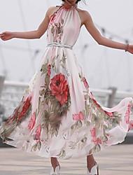 cheap -Women's Swing Dress - Floral Blushing Pink One-Size
