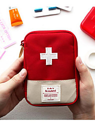 cheap -Nylon Pattern / Print / Zipper Emergency Survival Bag Outdoor Red / Green / Dark Blue