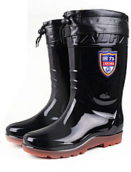 cheap -Men's PVC Spring & Summer Boots Waterproof Mid-Calf Boots Black