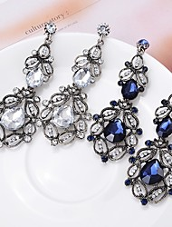 cheap -Women's Drop Earrings Hollow Out Stylish Imitation Diamond Earrings Jewelry Blue / White For 1 Pair