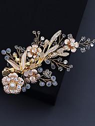 cheap -Women's For Wedding Anniversary Gift Formal Crystal Rhinestone Alloy Golden 1pc