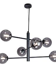 cheap -6-Light 69.5 cm Sputnik Design Chandelier Metal Glass Electroplated / Painted Finishes Modern / Nordic Style 110-120V / 220-240V