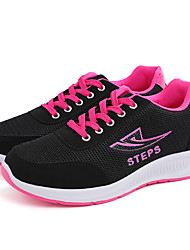 cheap -Women's Athletic Shoes Low Heel Round Toe Mesh Sporty / Casual Running Shoes Spring & Summer / Fall & Winter Black / White / Black / Red / Gray