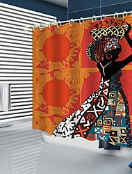 Недорогие -занавески для душа новый дизайн африканская девушка цифровая печать занавески для душа