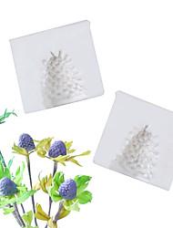 Недорогие -Eryngium цветок в форме сердца плесень фондант торт силиконовые формы домашней выпечки инструменты