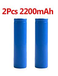 Недорогие -2 шт. Стабильный 2200 мАч 18650 3.7 В перезаряжаемые литий-ионные литиевые батареи фонарик факел фонарик замена bateria