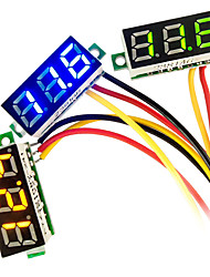 Недорогие -мини DC 0-100 В 3-цифровой вольтметр красный светодиодный индикатор напряжения панели 3-проводной