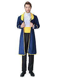 cheap -Prince Fairytale Prince Charming Coat Cosplay Costume Men's Women's Movie Cosplay Yellow+Blue Coat Blouse Pants Christmas Halloween Carnival / Waist Accessory / More Accessories