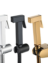 cheap -Bidet Faucet, Black/Gold/Sliver Contemporary COD Handheld bidet Sprayer High-pressure Below Self-Cleaning Contain with Hot and Cold Water