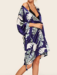 cheap -Women's Chemises & Gowns Nightwear Blue S M L