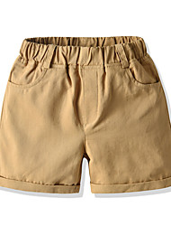 cheap -Kids Boys' Basic Street chic Solid Colored Shorts Light Green