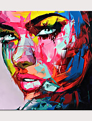 cheap -Palette Knife Portrait Pop Art On Canvas Oil Painting Street Art Colorful Hand Painted Aall Art Picture Rolled Without Frame