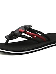 cheap -Men's PU Summer Slippers & Flip-Flops Color Block Red / Black