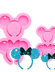 cheap -New Shiny Silicone Mouse Headband Shaped Mold DIY Epoxy Mould Silicone Resin Moulds