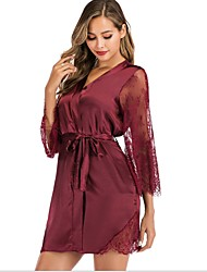 cheap -Women's Chemises & Gowns Nightwear Black Purple Blue S M L