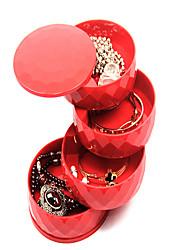 cheap -Round Jewelry Box - Black, White, Red 10.5 cm 10.5 cm 11 cm / Women's