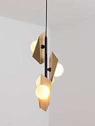 cheap -QIHengZhaoMing 3-Light 26 cm Geometric Shapes Pendant Light Metal Glass Modern 110-120V / 220-240V