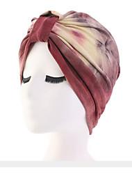 Недорогие -Жен. Классический Широкополая шляпа Хлопок,Цветочный принт Винный Розовый Оранжевый